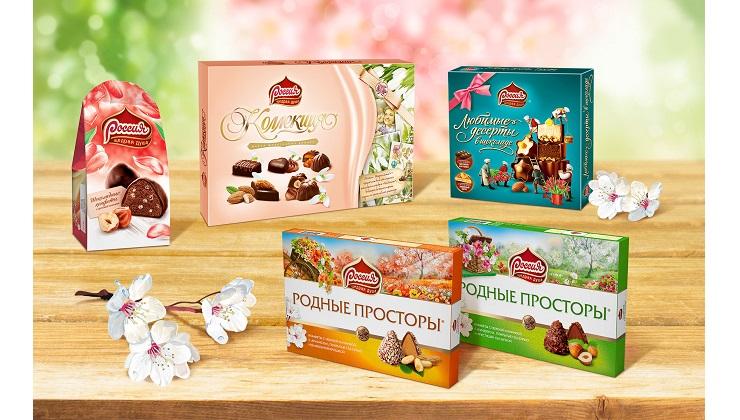 Весеннее настроение от бренда шоколадных конфет «РОССИЯ» — ЩЕДРАЯ ДУША!»